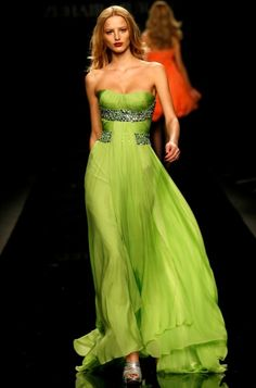 Zuhair Murad  I'd totally consider wearing this shade of green for my second wedding.