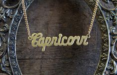 Capricorn Astrological Sign Necklace by BrooklynCharm on Etsy, $16.00