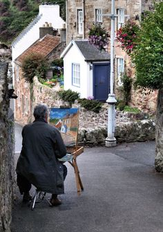 The pretty village of Crail in East Neuk of Fife, Scotland.