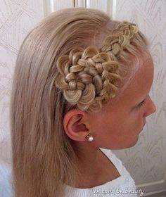 This hairstyle is oh so cute for your little girl or if you're feeling adventurous, maybe even wear it on you!