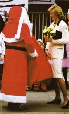 Princess Diana with santa