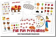 Fall Preschool Pack