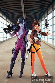 Overwatch, cosplays Fatale et Tracer - Overwatch