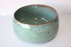 Serving Bowl ,Ceramic Bowl ,Handmade pottery Blue Green by BAYCLAY on Etsy