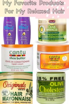 My Favorite Products To Use For My Relaxed Hair.