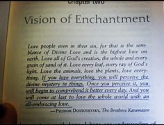 Everything Belongs - Richard Rohr quote from Dostoyevsky