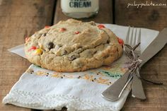 Peanut Butter Reeses Pieces Giant Cookie... for One