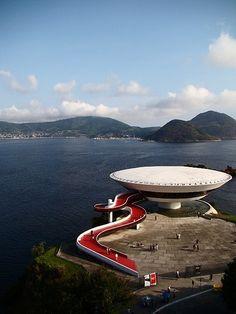 The Niterói Contemporary Art Museum, Niteroi, Rio de Janeiro, Brazil.