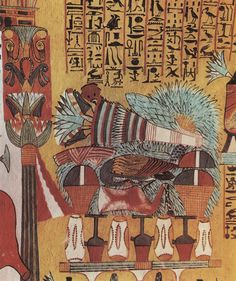 Offering table. From Tomb of Sennedjem, Thebes, early 19 dynasty.
