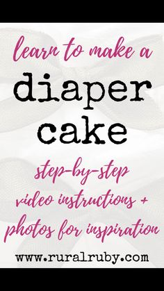 Step-by-Step Diaper Cake Video Tutorial Step-by-step video tutorial with written instructions and photos. Learn to make a diaper cake. Also includes gallery of images for inspiration and links to products used. Jungle Diaper Cakes, Tricycle Diaper Cakes, Diaper Motorcycle Cake, Unique Diaper Cakes, Elephant Diaper Cakes, Diy Diaper Cake, Nappy Cakes, Mini Diaper Cakes, Diaper Cakes Tutorial