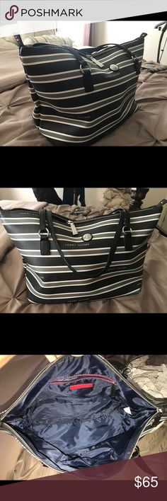 Brand new Tommy Hilfiger tote Brand new Tommy Hilfiger tote!  Beautiful bad casual or dress up❤️ brand new without tags Tommy Hilfiger Bags Totes