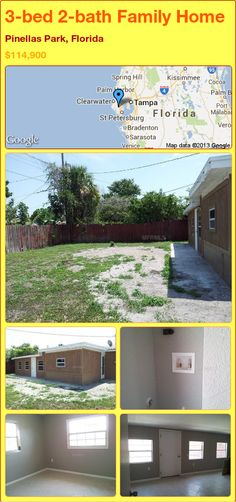 3-bed 2-bath Family Home in Pinellas Park, Florida ►$114,900 #PropertyForSale #RealEstate #Florida http://florida-magic.com/properties/13327-family-home-for-sale-in-pinellas-park-florida-with-3-bedroom-2-bathroom