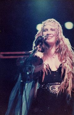 Stevie on stage during the Rock A Little Tour in Australia - Members Of Fleetwood Mac, Stephanie Lynn, Stevie Nicks Fleetwood Mac, Women Of Rock, Stevie Ray, Beautiful Voice, Beautiful Women, Love Her Style, Female Singers