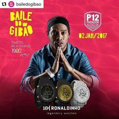 Ronaldo de Assis Moreira @ronaldinhooficial: #Repost @bailedogibao  A @18kwatches do @ronaldinhooficial é uma das patroci