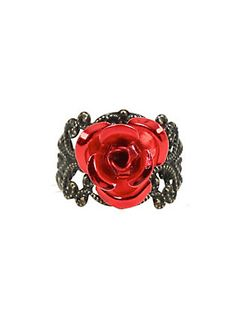 Disney Beauty And The Beast Rose Filagree Ring,
