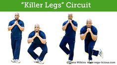 Easy to follow leg exercises you can take anywhere you go to get amazingly toned killer legs.