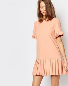 Image 2 ofSister Jane Shadowplay Smock Dress With Lace Back & Pleat Skirt