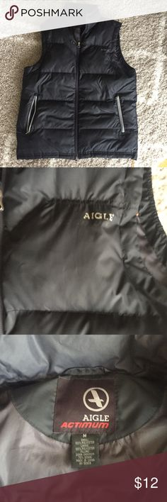 Aigle actimum puffer vest Aigle actimum puffy vest. Size medium. Some of the lettering is coming off- see all pics. Aigle Jackets & Coats Vests