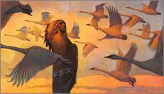 Swan Song by Thomas Blackshear. Thomas Blackshear always does such great artwork. I love the lighting on this piece.