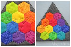 Maryline Collioud made this awesome color wheel teaching tool as part of the 12 Hexies (or Less) Blog Hop.