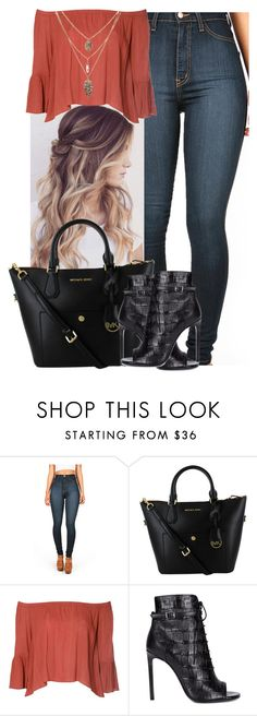 """""""XOXO"""" by nimrah-b ❤ liked on Polyvore featuring Glamorous, Yves Saint Laurent, women's clothing, women, female, woman, misses and juniors"""