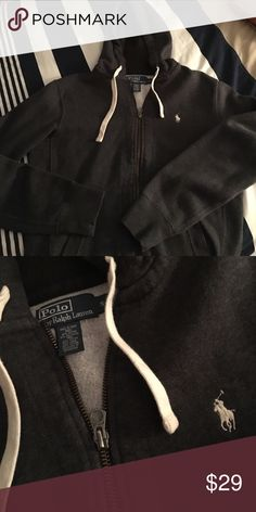 55c69b95ac8 Polo hoodie Polo by Ralph Lauren hoodie. Charcoal grey in perfect  condition. Worn a. Poshmark