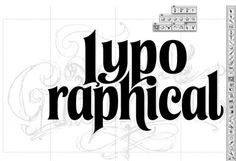 Typo Graphical logo sketch work in progress by Alan Ariail http://typo-graphical.com/logo-development-with-alan-ariail/