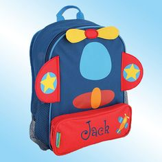 Backpack - Personalized and Embroidered - Sidekick Backpack - AIRPLANE on Etsy, $25.99