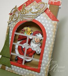 great tutorial on how to make the Stampendous Secret Santa into a stunning 3D image source: Creations by AR: Secret Santa - Layering Tutorial (Adela Rossol )