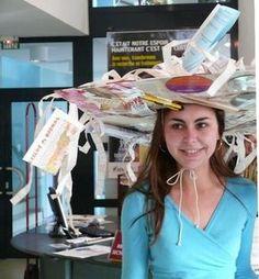 """Le chapeau de catherinette de la femme """"administrative""""..."""
