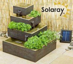 Bepflanzbarer Solarbrunnen