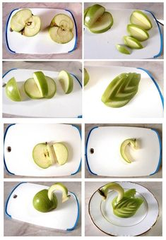 food art Archives - Page 4 of 8 - i Creative Ideas Apple Decorations, Food Decoration, Apple Swan, Fruit Christmas Tree, Fruit Creations, Creative Food Art, Food Sculpture, Kinds Of Fruits, Food Garnishes