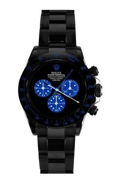Rolex Daytona Paul Newman In Blue by Bamford for Preorder on Moda Operandi Dream Watches, Fine Watches, Cool Watches, Rolex Watches, Rolex Datejust, Rolex Gmt, Herren Chronograph, Bamford, Expensive Watches