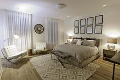 placement of area rugs in bedroom
