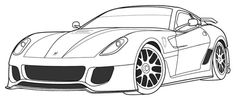 Best Coloring: Ferrari Coloring Pages Super Coloring Pages, Farm Animal Coloring Pages, Truck Coloring Pages, Printable Coloring Pages, Coloring Pages For Kids, Coloring Books, Logo Ferrari, Ferrari 458, Minecraft Coloring Pages