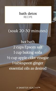 Detox baths are not only a great way to relax, but . - Cleansing and detox - # Health Tips, Health And Wellness, Health And Beauty, Health Benefits, Health Articles, Health Remedies, Home Remedies, Detox Cleanse For Weight Loss, Detox Kur