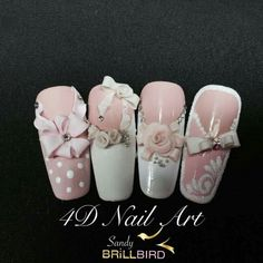 Opting for bright colours or intricate nail art isn't a must anymore. This year, nude nail designs are becoming a trend. Here are some nude nail designs. 3d Acrylic Nails, Fingernails Painted, 3d Nails, Gel Nail Art, Pink Nails, Bridal Nails, Wedding Nails, Great Nails, Cute Nails