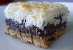 Kókuszhabos mákos linzerszelet paleo Eat Dessert First, Paleo Dessert, Dessert Recipes, Diet Desserts, Healthy Desserts, Paleo Desert Recipes, Diet Recipes, Paleo Vegan Diet, Food And Drink