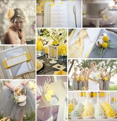 Grey and Yellow wedding inspiration!
