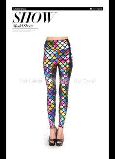 Aliexpress.com : Buy 2015 New Fashion Pants Adventure Time Metallic Rainbow Fish Scales Print Leggings Sexy Winter Punk Trousers For Women from Reliable pants loose suppliers on Hot Genie Authentic Brand Shop | Alibaba Group