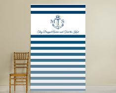 Royal Blue Stripe Photo Booth Backdrop will add fun to your wedding or special event. Stripe Photo Backdrop features an anchor design and may be personalized. Nautical Photo Booth, Nautical Backdrop, Nautical Theme, Nautical Anchor, Nautical Wedding Favors, Nautical Bridal Showers, Personalized Wedding, Personalized Gifts, Monogram Wedding
