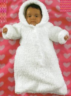 PDF Knitting Pattern - Baby's Chunky Knit Sleeping bag/Sack or Cocoon & Dressing Gown - Instant Download