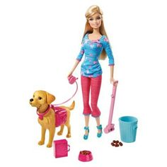 Barbie Potty Training Taffy Barbie Fashion Doll and Pet Playset.  I can't believe it even comes with POOP!
