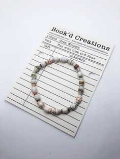 Your place to buy and sell all things handmade Classic Literature, Classic Books, Book Lovers Gifts, Gift For Lover, Gifts For Librarians, Literary Gifts, Paper Beads, Bracelet Making, Childrens Books