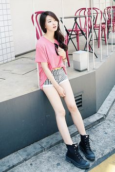 Korean fashion. I have a bit of an obsession with the stripes and floral pattern or colour block combo. :)