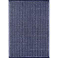 Cadencia Saddle Stitch Blue Indoor/Outdoor Area Rug