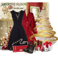 """Holiday Dress"" by brendariley-1 on Polyvore"