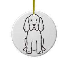 Clumber Spaniel Dog Cartoon Christmas Ornament
