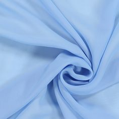 Chiffon 1 - hellblau - Transparent - Chiffon - Festtagskleidung - Stoffe - Serenity - stoffe.de