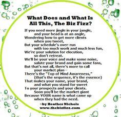 Poem of The Biz Fizz www.TheBizFizz.com Marketing Consulting, Coaching, and Speaking